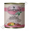 Landfleisch Pur Dog konzerv baromfival és lazaccal, 800g
