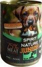 Spirit of Nature Dog konzerv Junior Bárány és nyúlhússal 415g